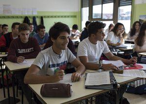 Alumnos en las aulas